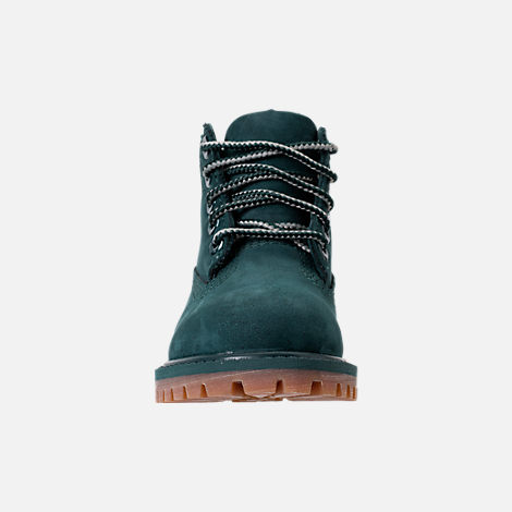 Front view of Kids' Toddler Timberland 6 Inch Premium Boots in Dark Green