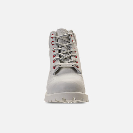 Front view of Kids' Preschool Timberland White Serpent 6 Inch Classic Boots in White Cardinal Exotic