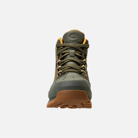 Front view of Girls' Grade School Timberland Euro Hiker Shell Toe Boots in Dark Olive