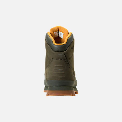 Back view of Girls' Grade School Timberland Euro Hiker Shell Toe Boots in Dark Olive