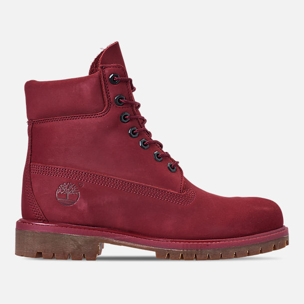 Right view of Men's Timberland 6 Inch Premium Classic Boots in Burgundy Waterbuck
