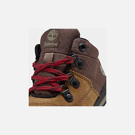 Front view of Boys' Toddler Timberland GT Rally Boots in Medium Brown Suede