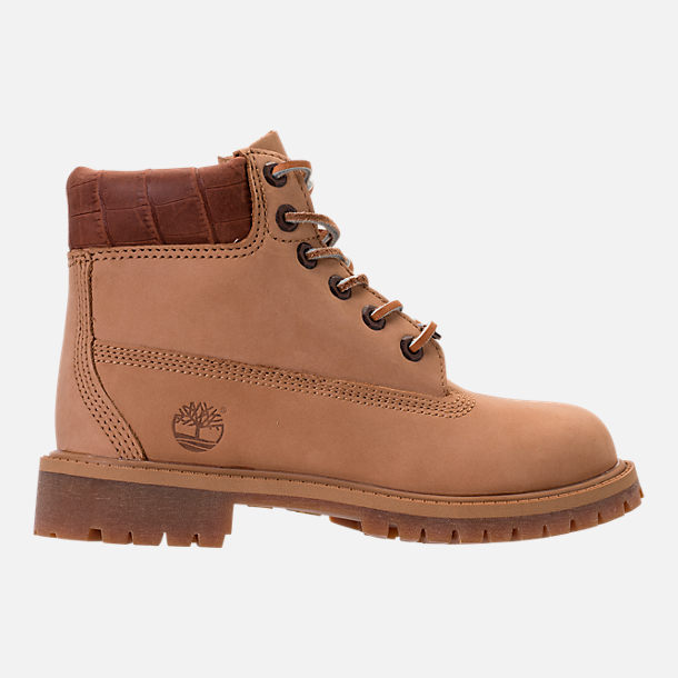 Right view of Boys' Preschool Timberland Pioneer 6-Inch Premium Boots in Iced Coffee Waterbuck