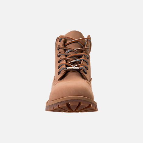 Front view of Boys' Preschool Timberland Pioneer 6-Inch Premium Boots in Iced Coffee Waterbuck