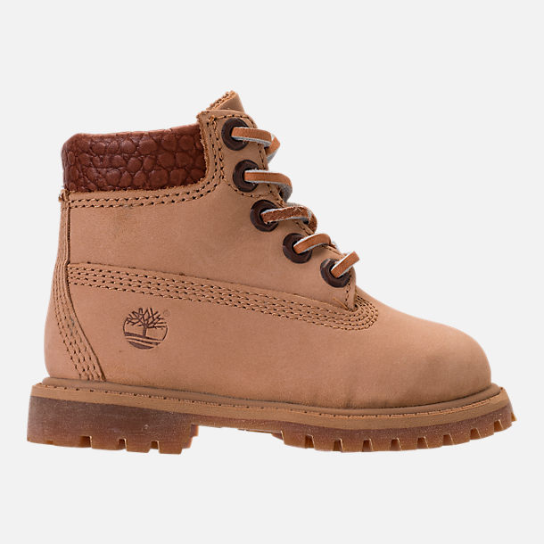 Right view of Boys' Toddler Timberland Pioneer 6-Inch Premium Boots in Iced Coffee Waterbuck