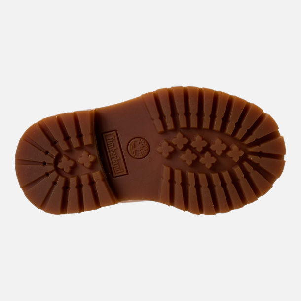 Bottom view of Boys' Toddler Timberland Pioneer 6-Inch Premium Boots in Iced Coffee Waterbuck