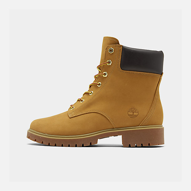 Right view of Women's Timberland Jayne 6 Inch Waterproof Boots in Wheat Nubuck