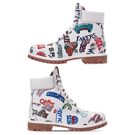 Men'S X Mitchell And Ness X Nba 6 Inch Classic Premium Boots, White
