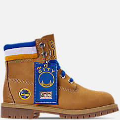 Boys' Big Kids' Timberland x Mitchell and Ness x NBA Golden State Warriors 6 Inch Classic Premium Boots