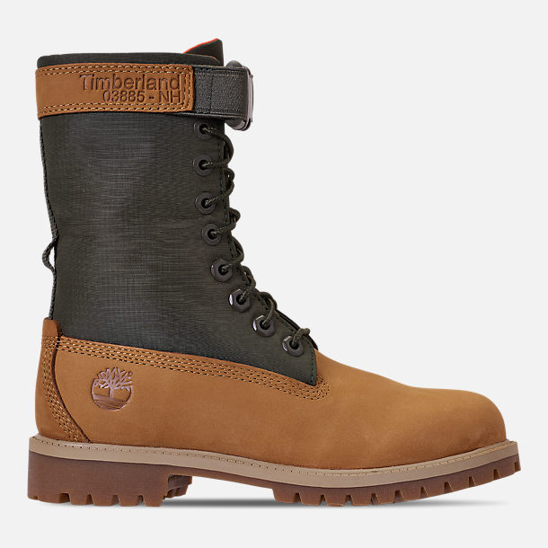 498640f11e09 Right view of Boys  Big Kids  Timberland 6 Inch Premium Gaiter Boots in  Wheat