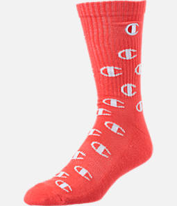 Men's Champion Allover Big C Print Crew Socks
