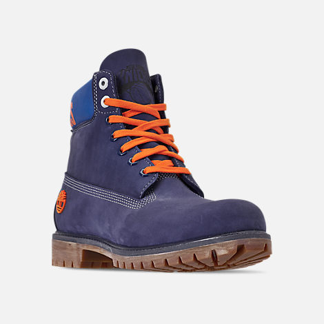 323a30e761f9 Three Quarter view of Men s Timberland New York Knicks NBA 6 Inch Classic  Premium Boots in