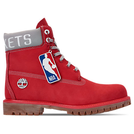 Timberland Boots MEN'S HOUSTON ROCKETS NBA 6 INCH CLASSIC PREMIUM BOOTS, RED