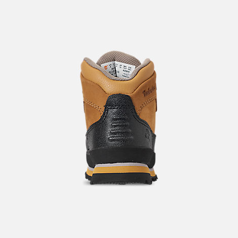 Back view of Boys' Toddler Timberland Euro Hiker Shell Toe Boots in Wheat Nubuck