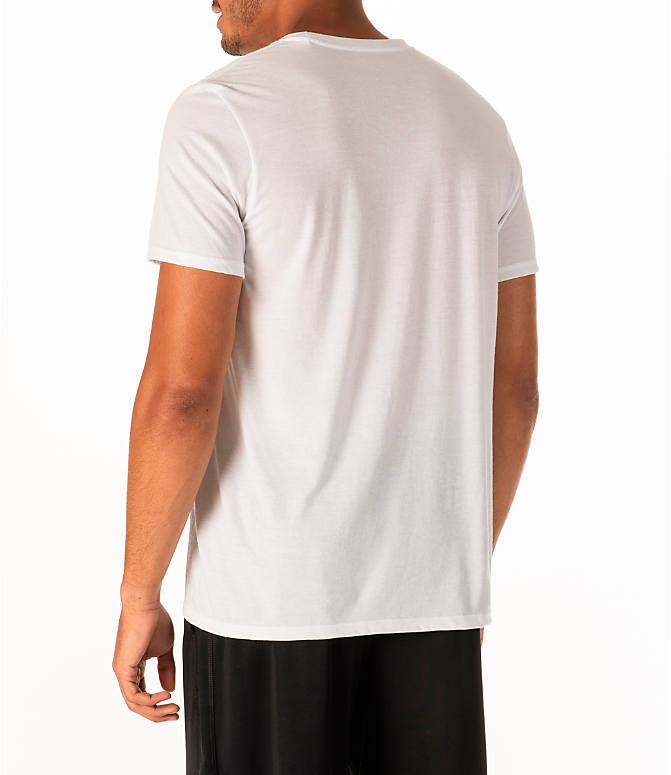 Back Left view of Men's adidas Rookie Basketball T-Shirt in White