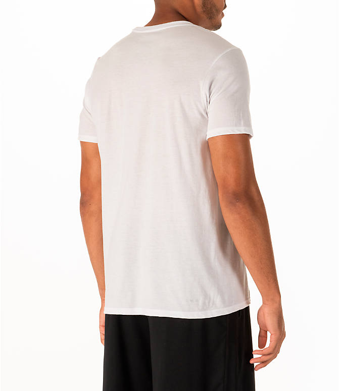 Back Right view of Men's adidas Rookie Basketball T-Shirt in White