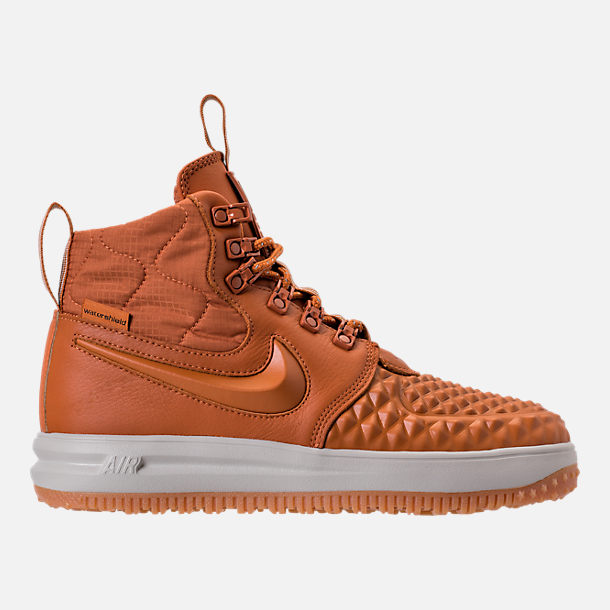 Right view of Women's Nike Lunar Force 1 Duck Boots in Cider/Black/Pale Grey