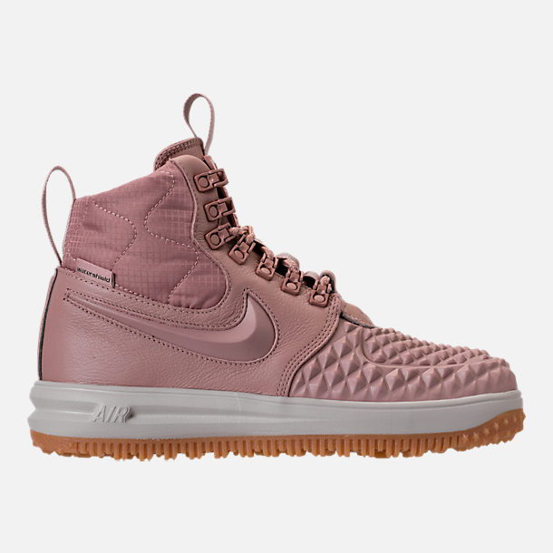 Right view of Women's Nike Lunar Force 1 Duck Boots in Particle Pink/Light Bone/Summit White