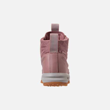 Back view of Women's Nike Lunar Force 1 Duck Boots in Particle Pink/Light Bone/Summit White