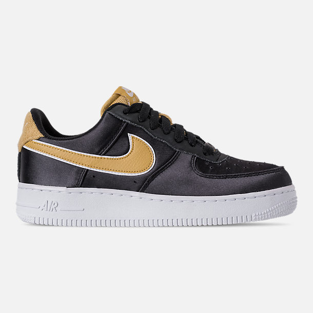 Right view of Women's Nike Air Force 1 '07 SE Casual Shoes in Black/Wheat Gold/White
