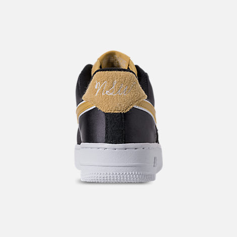 Back view of Women s Nike Air Force 1  07 SE Casual Shoes in Black  edfdf0fca