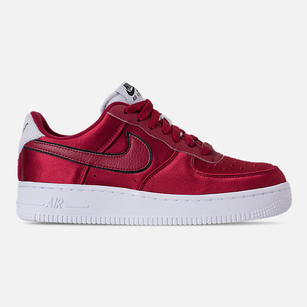 Right view of Women's Nike Air Force 1 '07 SE Casual Shoes in Red Crush/White/Black