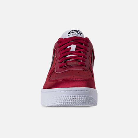 Front view of Women's Nike Air Force 1 '07 SE Casual Shoes in Red Crush/White/Black