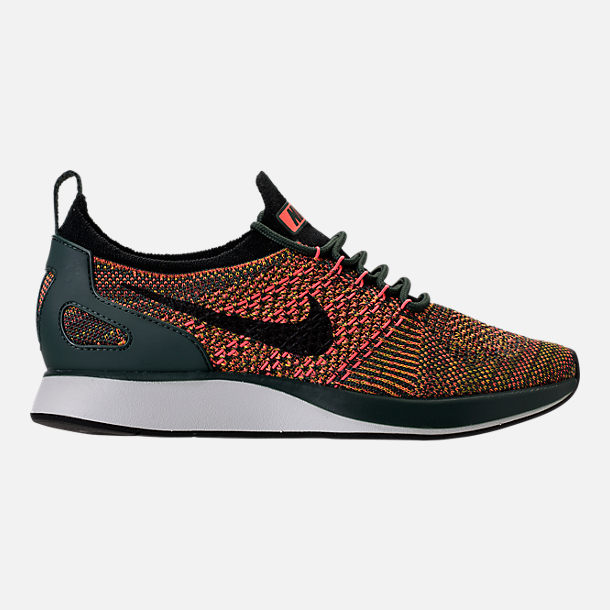 Right view of Women's Nike Air Zoom Mariah Flyknit Racer Casual Shoes in Vintage Green/Black/Summit White