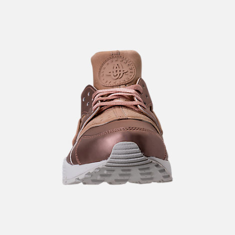 Front view of Women's Nike Air Huarache Run Premium TXT Casual Shoes in Elm/Metallic Red Bronze/Summit