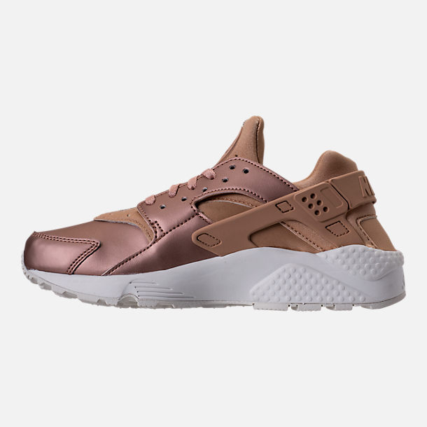 Left view of Women's Nike Air Huarache Run Premium TXT Casual Shoes in Elm/Metallic Red Bronze/Summit