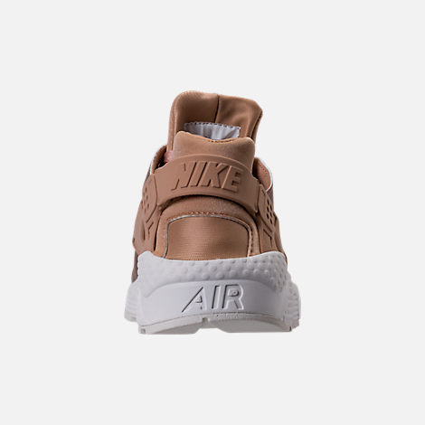 Back view of Women's Nike Air Huarache Run Premium TXT Casual Shoes in Elm/Metallic Red Bronze/Summit