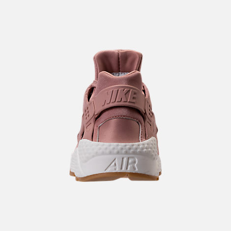Back view of Women's Nike Air Huarache Run SD Running Shoes in Particle Pink/Gum Medium Brown/Ivory
