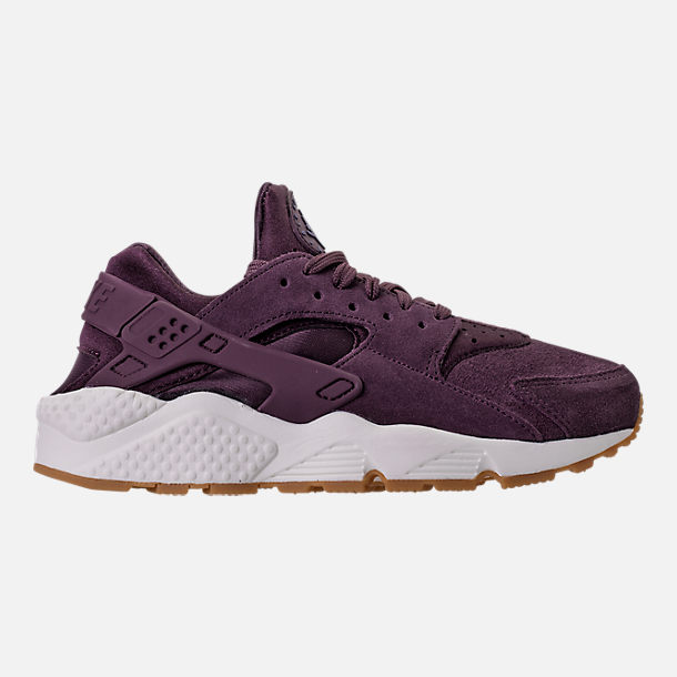 Right view of Women's Nike Air Huarache Run SD Running Shoes in Port Wine/Gum Light Brown