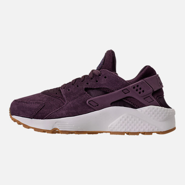 Left view of Women's Nike Air Huarache Run SD Running Shoes in Port Wine/Gum Light Brown