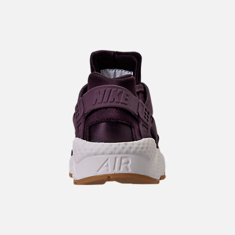 Back view of Women's Nike Air Huarache Run SD Running Shoes in Port Wine/Gum Light Brown