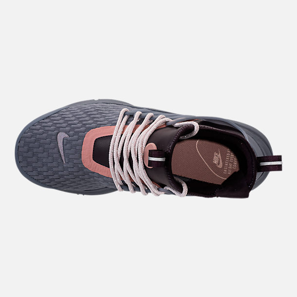 bc7466610fbd Top view of Women s Nike Air Presto Mid Utility Premium Casual Shoes in  Light Carbon