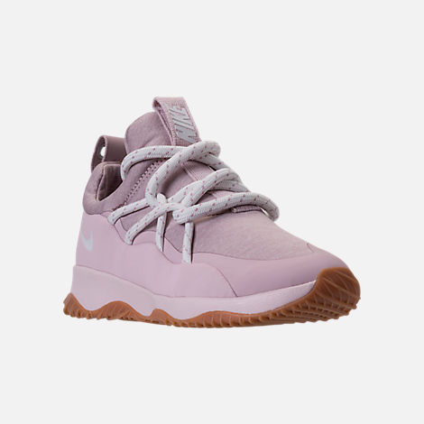 Three Quarter view of Women's Nike City Loop Casual Shoes in Particle Rose/Summit White/Barely Rose