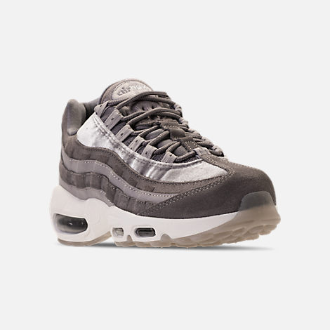 Three Quarter view of Women's Nike Air Max 95 LX Casual Shoes in  Gunsmoke/Gunsmoke