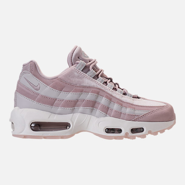 Right view of Women's Nike Air Max 95 LX Casual Shoes in Particle Rose/Vast Grey