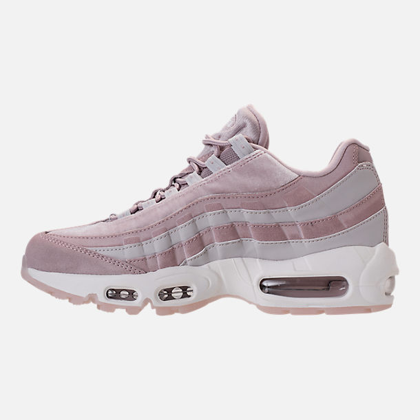 Left view of Women's Nike Air Max 95 LX Casual Shoes in Particle Rose/Vast Grey