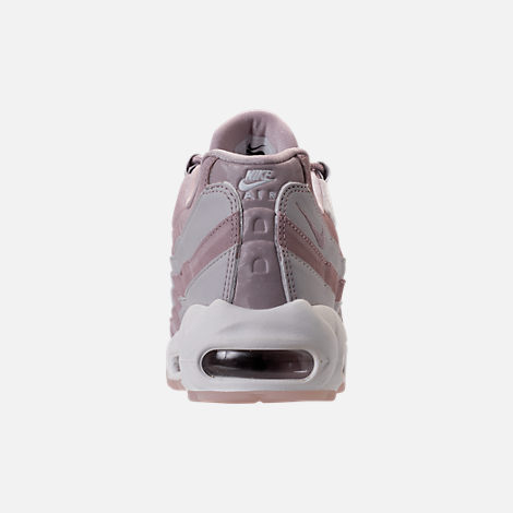 Back view of Women's Nike Air Max 95 LX Casual Shoes in Particle Rose/Vast Grey
