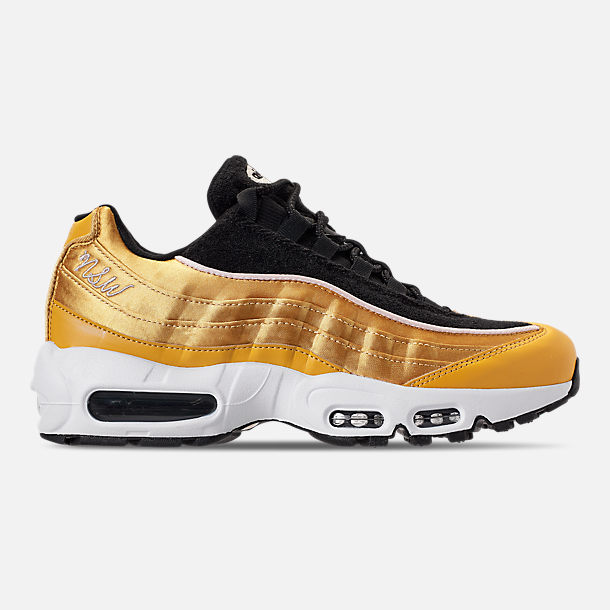 Right view of Women s Nike Air Max 95 LX Casual Shoes in Wheat Gold Black 827dd5a31