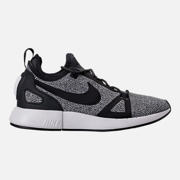 Right view of Women's Nike Duel Racer Knit Casual Shoes in Black/Dark Grey/Summit White