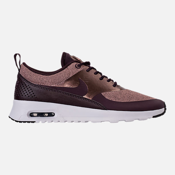 Right view of Women's Nike Air Max Thea Knit Casual Shoes in Port Wine/Metallic Mahogany