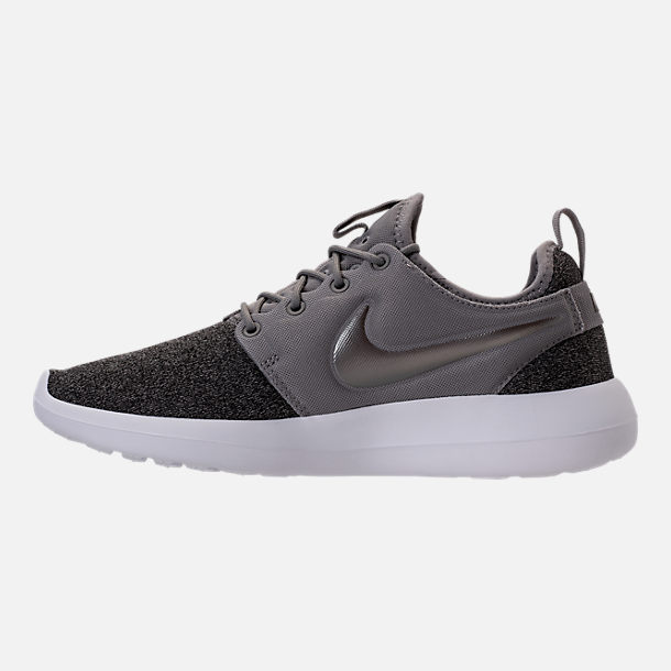 Left view of Women's Nike Roshe Two Knit Casual Shoes in Dust/Metallic Pewter/Black/White