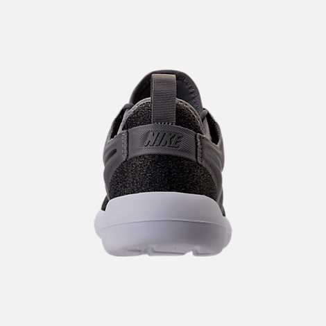Back view of Women's Nike Roshe Two Knit Casual Shoes in Dust/Metallic Pewter/Black/White
