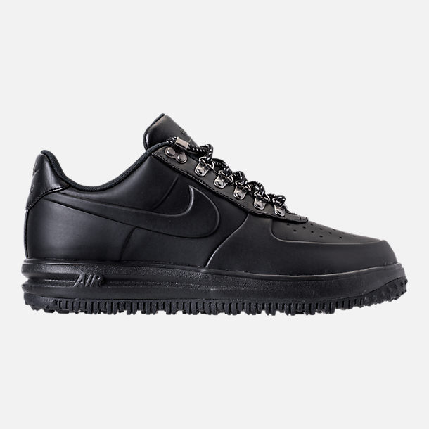 Right view of Men's Nike Lunar Force 1 2017 Low Duckboots in Triple Black