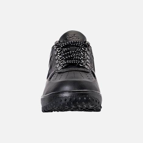 Front view of Men's Nike Lunar Force 1 2017 Low Duckboots in Triple Black