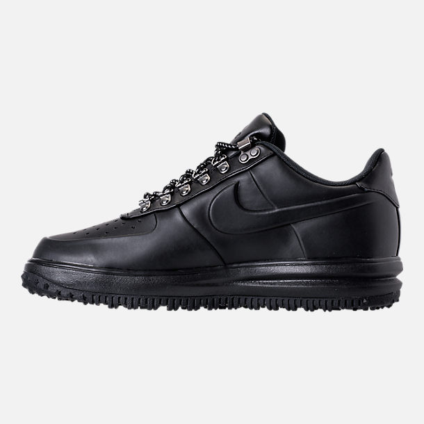 Left view of Men's Nike Lunar Force 1 2017 Low Duckboots in Triple Black