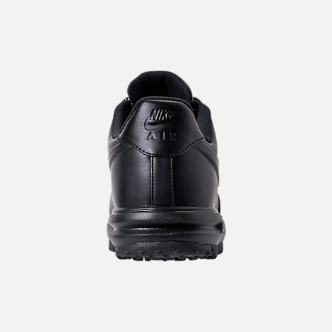 Back view of Men's Nike Lunar Force 1 2017 Low Duckboots in Triple Black